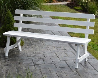 Yellow Pine Traditional 2ft. Backed Outdoor Bench
