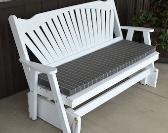 Yellow Pine Fanback 4ft. Porch Glider