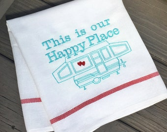 Camper Decor RV Throw Pillow This is Our by