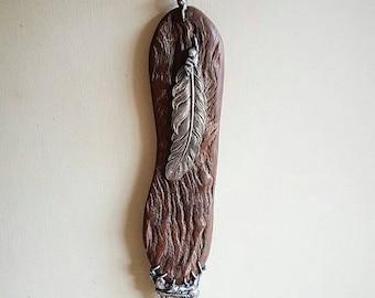 Organic Jewelry, Natural, Earthy, Rustic, Pendant, Ethically Sourced Smokey Quartz, Eucalyptus Wood, Ceremonial, Unique, Australian, Raw.
