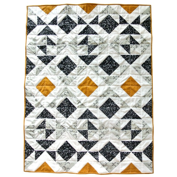 Modern Quilt Patterns For Beginners : Nordic Triangles Quilt Pattern PDF Download - Original Homemade Modern Quilting Designs for Baby ...