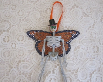 Day of the Dead Butterfly Skeleton Ornament