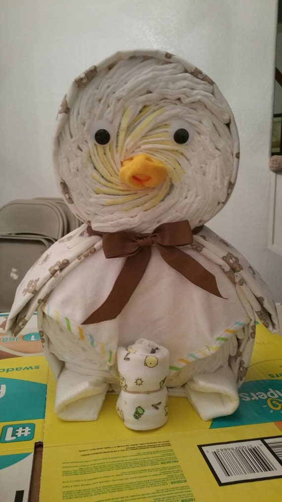 Baby duck diaper cake by VangosCreations on Etsy