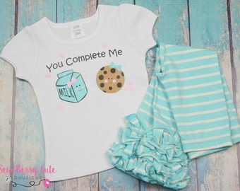 Cookies and Milk Shirt You Complete Me Shirt