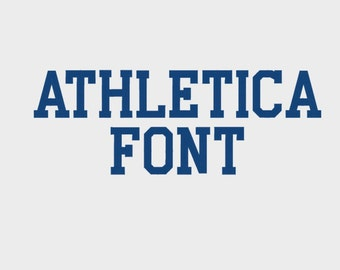 "Athletica College Embroidery Machine Font, 0.75"", 1"", 1.5"", 2"" & 2.5"" sizes (upper case and numbers) - INSTANT DOWNLOAD - Item #1088"