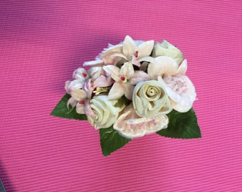 Groom Boutonniere,Couture look Weddings Groomsman, Flower Boutonniere. Made in Japan.