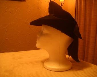 Turn Of the Century Black Felt hat