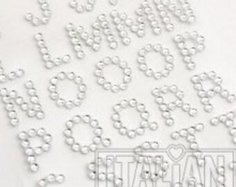 15mm Diamante Self Adhestive Alphabet Letters