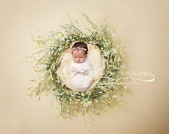 Instant Download newborn wreaths! Newborn prop wreath digital backdrop! Gender Neutral digital backdrop!