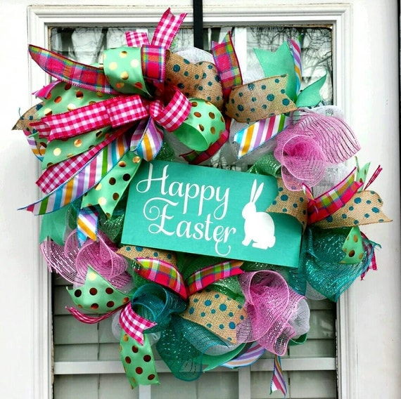 Easter Bunny Deco Mesh Wreaths Page Two | Easter Wikii