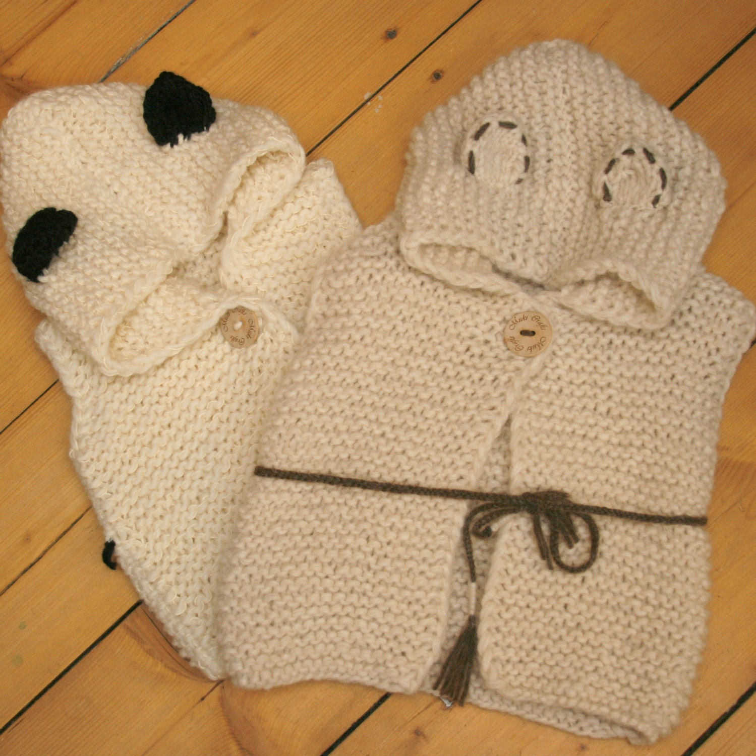 Knitting Pattern Hooded Vest : KNITTING PATTERN hooded cardigan vest Sheep Sheridan by ...
