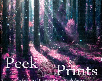 8ft.x8ft. Pink Majestic Fairy Forest Professional Photography Backdrop
