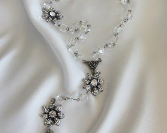 Handmade Rosaries / Crystal Rosaries / Crystal Clear Rosaries / Rosarios de Boda