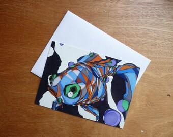Gulp - Print of an Original Multimedia Work - Goldfish - 5x7 & 8x10