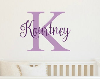 Personalized Name Decal Kids Name Decal Girl Name Wall Decal Name Decal Nursery Girl Bedroom Decor Girl Name Vinyl Decal Name Wall Decal