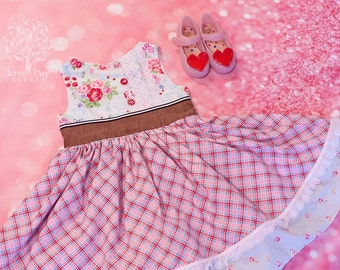 Floral Garden 4T-5T girl's dress RTS ready to ship OOAK One of a kind Easter Valentine Dress