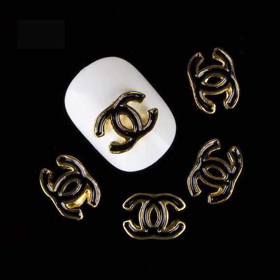 chanel logo nail charm 2pcs nail art