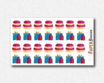 Small Birthday Planner Stickers