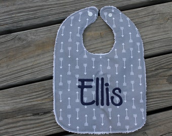 Infant/Toddler Bib with Monogram- monogrammed bib, bib and burp cloth set, arrows, monogrammed baby gift, monograms, bibs, burp cloths