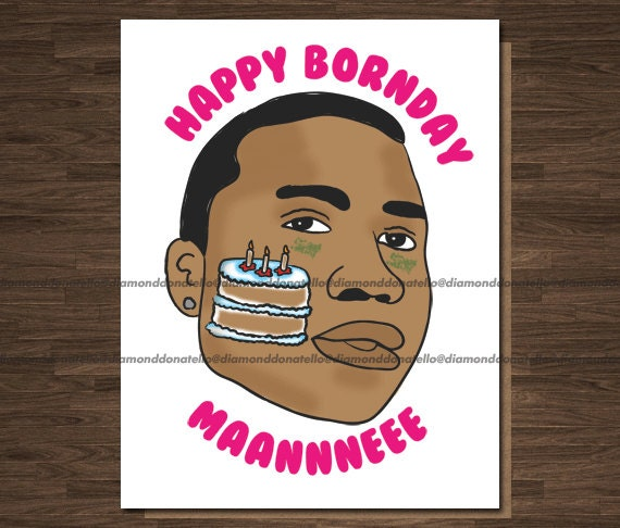 Boyfriend Birthday Card Rapper Birthday Card Gucci Mane