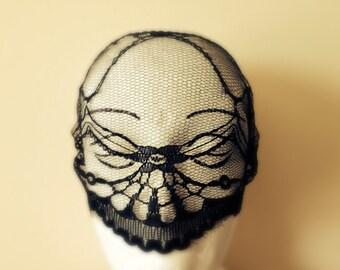 Gothic Halloween Mask Face Mask Gothic Mask Masquerade Lace Mask