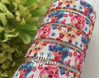 Printed foe,FOE,elastic for headband,doll elastic,foldover,elastic for hair ties,foe elastic,elastic by the yard,fold over elastic,137
