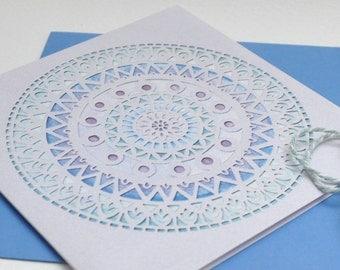 Frozen Mandala papercut print card
