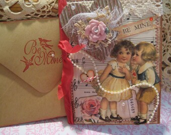 Valentine Card, Vintage Style, Be Mine