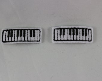 Piano Felt Snap Embroidered Hair Clips