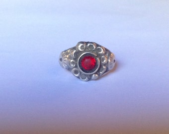 Rajasthan old silver ring with red glass, Rajasthan old silver, Rajasthan jewelry, Indian jewelry, ethnic, tribal