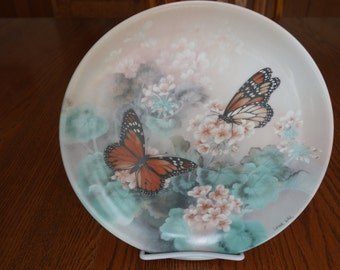 Monarch Butterflies Collectible Plate / by Lena Liu / On Gossamer Wings Series / First Issue