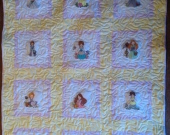 Angel Baby Quilt Embroidered