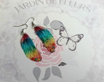 Magical Rainbow Fairy Wing Earrings