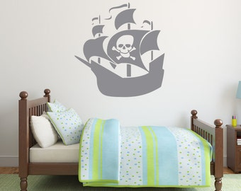 Pirate Ship Wall Decal Vinyl Sticker for Kids Room Home Decor