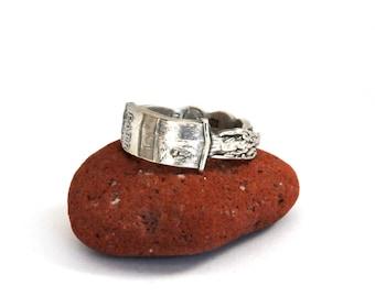 spoon ring, irish ring, ireland ring, eire ring, st. patricks ring