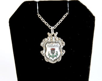 Scotland necklace, thistle necklace, scottish necklace,