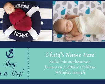 Nautical Birth Announcement