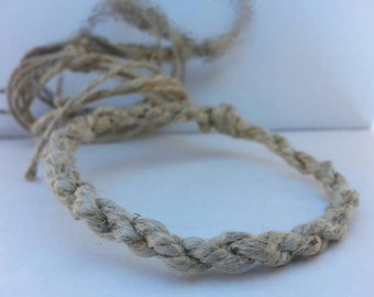 Natural Hemp Bracelet Handmade, Jewelry, Boho Bracelet, Friendship Bracelet, Braided Bracelet, Mens Hemp Jewelry, Under Ten Dollars.