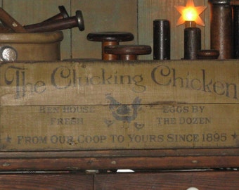 The Clucking Chicken rustic upcycled/recycled/repurposed pallet sign