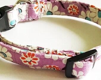 Purple Daisy Collar for Girl Dog or Cat
