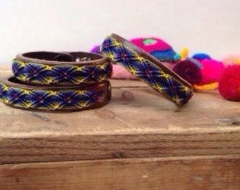 Leather friendship bracelet * Colorful bracelet *