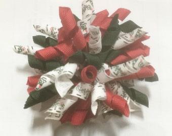 Holiday Handmade Korker Hair Bow