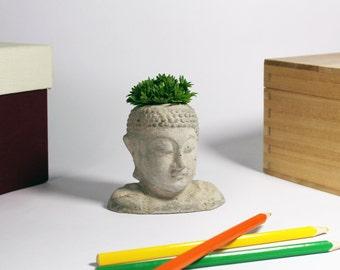 Buddha Concrete Planter - Statuette