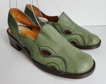 Green 70s Vintage Shoes // Alfred Maelich // Size EU 39