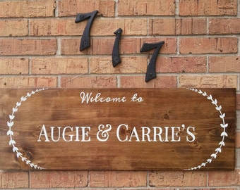 Welcome to... Names/ Home Names/ Family Name Pallet wood Sign