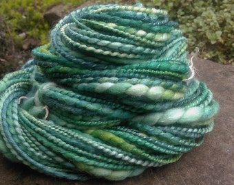 Handspun yarn merino silk