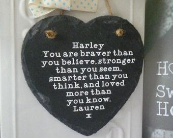 best friend gift motivational quote slate heart friendship plaque sign friend keepsake friend birthday christmas gift friend thank you gift