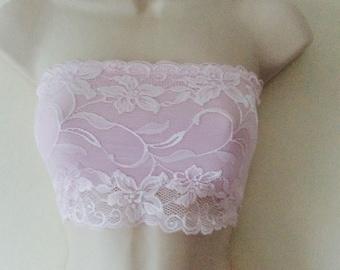 Lace Bandeau Pink