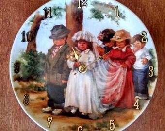 Here Comes the Bride 8 1/2 Inch Clock -