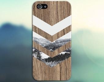 Black White Snow Forest Chevron Brown Wood Phone Case Nature Galaxy s8 Case, Tough Case iPhone 6, Samsung s7 edge Case Escape iPhone 6s Plus